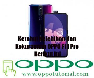 Kelebihan dan Kekurangan OPPO F11 Pro