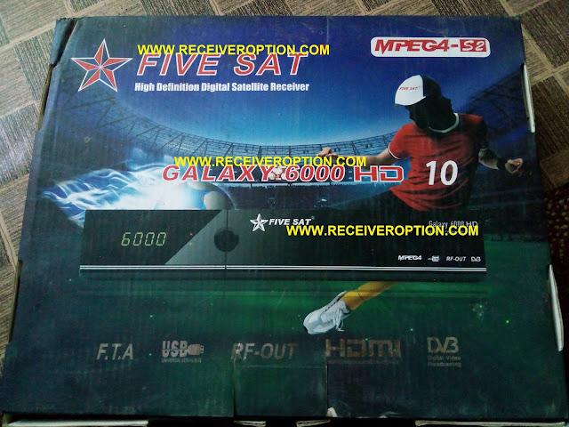 FIVE SAT GALAXY 6000 HD RECEIVER BISS KEY OPTION