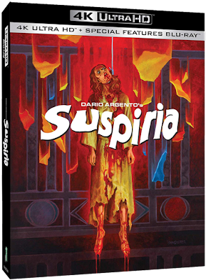 Cover art for Synapse Films' 4K UHD release of Dario Argento's SUSPIRIA. Art by Wes Benscoter!