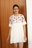Lavanya Tripathi in Summer Style Spicy Short White Dress at her Interview  Exclusive 249.JPG