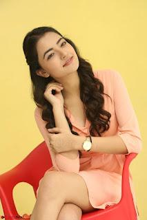 Rukshar Mir in a Peachy Deep Neck Short Dress 044.JPG