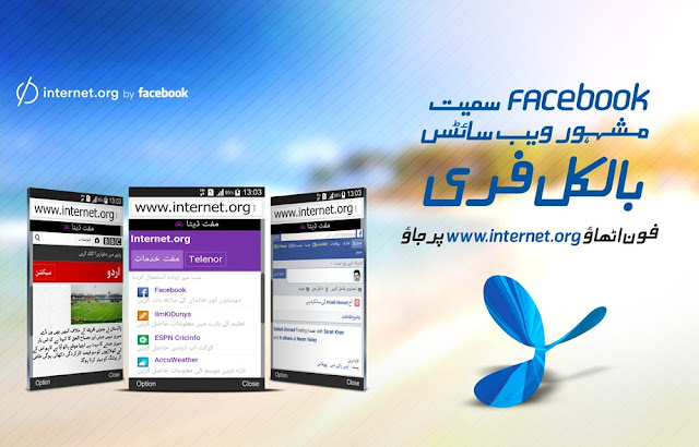 Use Free Internet With Telenor and internet.org