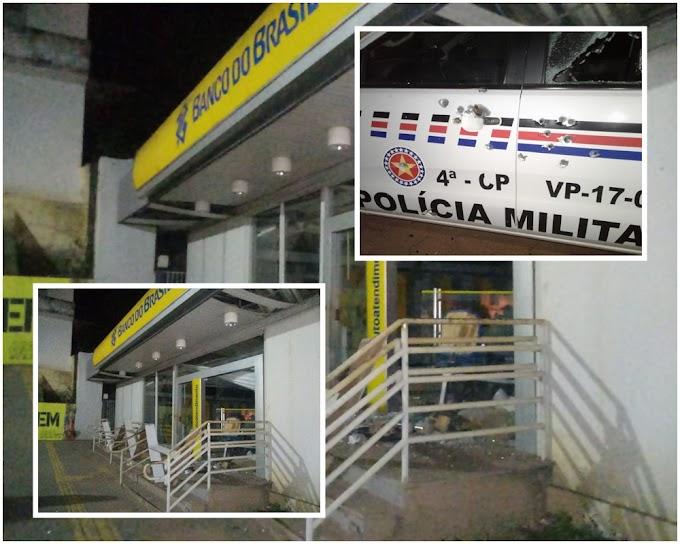 Bandidos explodem agência do Banco do Brasil e atacam base da PM em Esperantinópolis