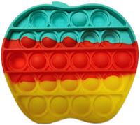 Антистрес детска играчка Фиджет Попит FIDGET POP IT с форма на ябълка, многоцветна