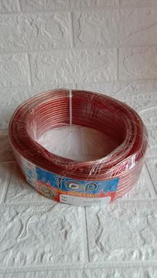 Kabel Bening Ukuran 2 x 50 30 meter