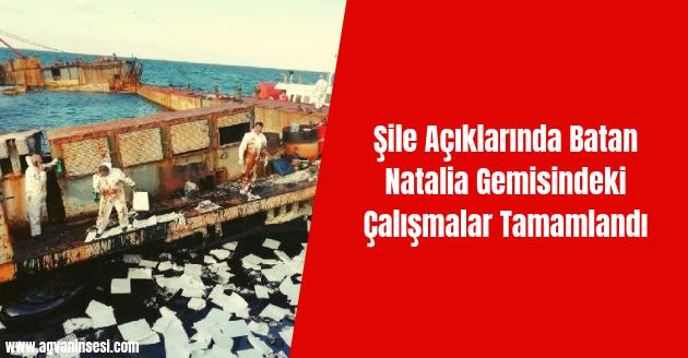 Şile Açıklarında Batan Natalia Gemisindeki Çalışmalar Tamamlandı