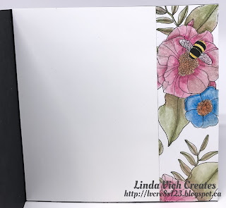 Linda Vich Creates: Hoping For Sunshine. The Stitched Shapes Framelits are used to  create a brightly watercolored flower that adorns an embossed matte.