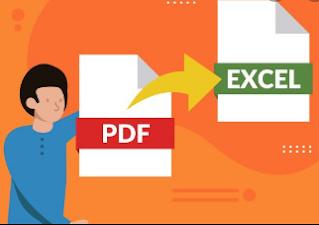 Mengubah  format PDF Ke Excel