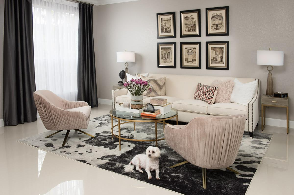 Live Laugh Decorate: A Grown, Glam and Gorgeous Living And Dining Room