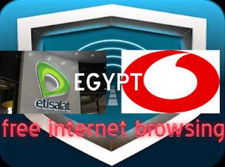 Etisalat & Vodafone Egypt Free Internet