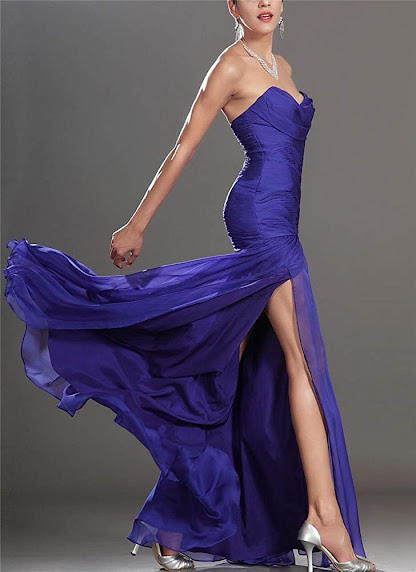Cheap Strapless Chiffon Bridesmaid Dresses