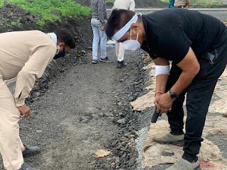 इंदौर के सुपर कॉरिडोर पर पुलिस व बैंक लुटेरों की मुठभेड़