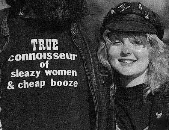 True Connoisseur of Sleazy Women & Cheap Booze t-shirt.  PYGear.com