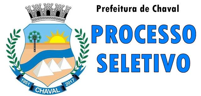 Prefeitura municipal de Chaval divulga resultado do novo Processo Seletivo