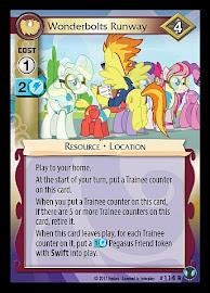 My Little Pony Wonderbolts Runway Defenders of Equestria CCG Card