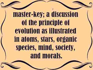 Evolution, the master-key