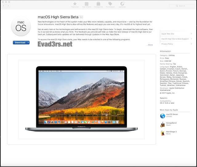 MacOS High Sierra Download, Torrent, Direct Links