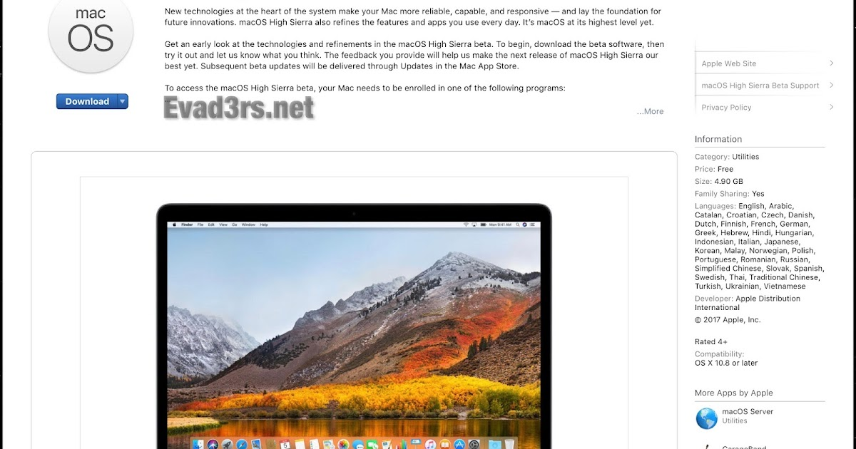 download mac os x high sierra torrent