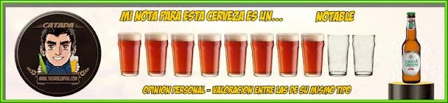 "Cerveza AMBAR GREEN 0,0 ""Sin Gluten"""
