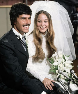 Mark Spitz and his wife Suzy Weiner in their wedding dress