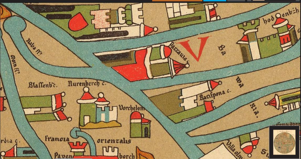 Erde Karte Rund.Regensburg Historisch 1300 Regensburg Auf Der Ebstorfer Weltkarte