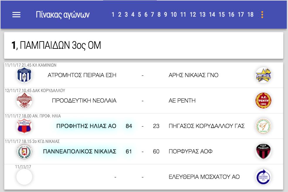 ΠΑΜΠΑΙΔΩΝ 3ος ΟΜ ΕΣΚΑΝΑ | Το NEO (* τροποποιημένο) πρόγραμμα αγώνων