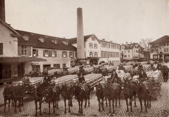 Nestlé milk arrival 1890