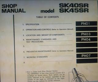 Kobelco sk40SR sk45SR shop manual
