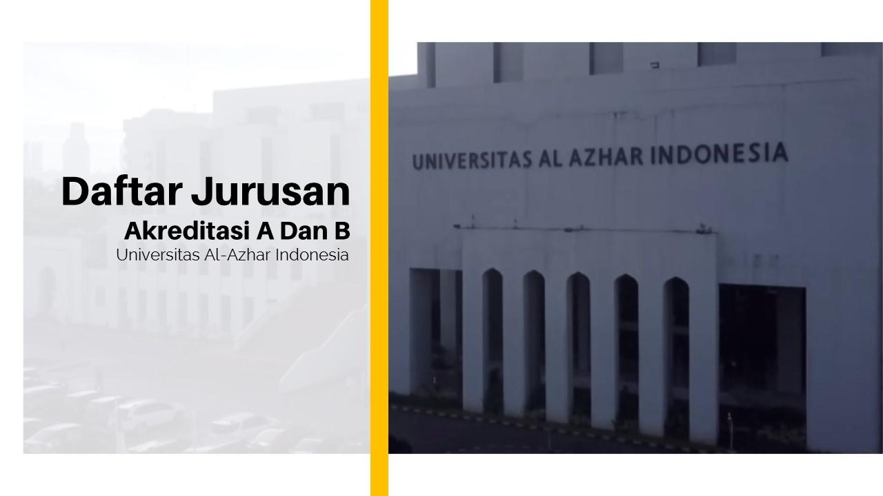 Daftar Jurusan Akreditasi A Dan B Di Universitas Al-Azhar Indonesia, Ada Jurusan Impianmu?