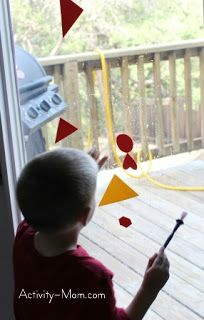 painting on the windows with water