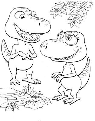 Gambar Mewarnai Dinosaurus - 10