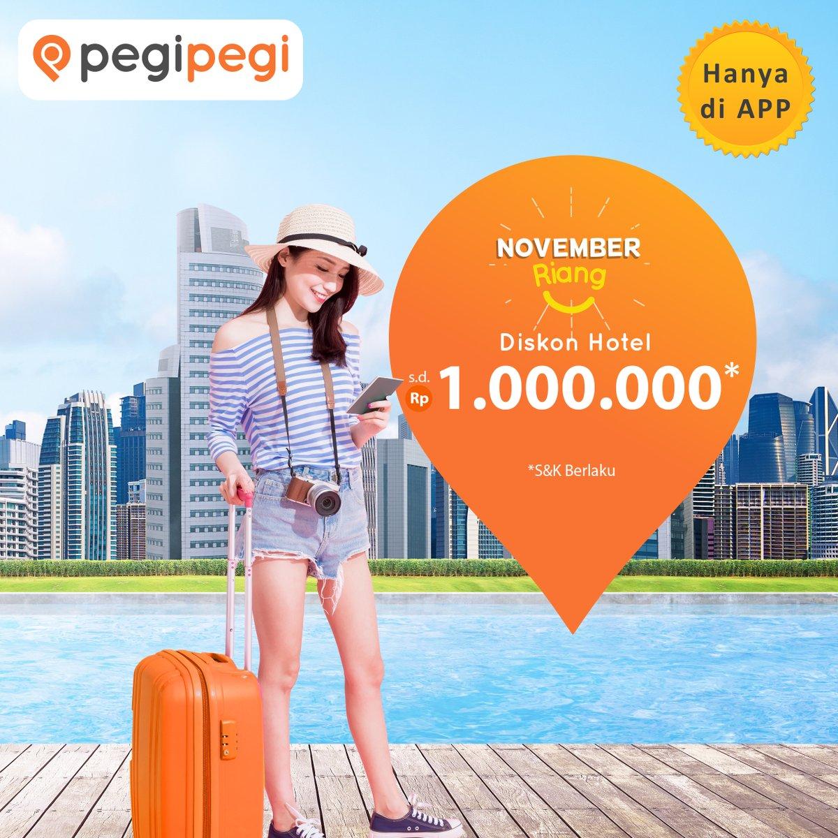 PegiPegi - Promo Kupon Diskon Hotel s.d 1juta Via PegiPegi (12 - 14 Nov 2018)