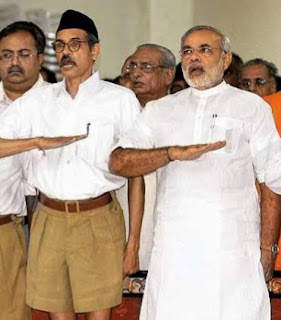 What is the message of RSS ( Rashtriya Swayamsevak Sangh) in India?