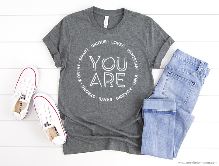 You Are... Shirt with FREE Cut File