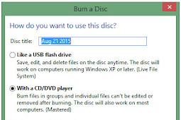 Cara Mudah Burning File ke dalam CD Tanpa Software