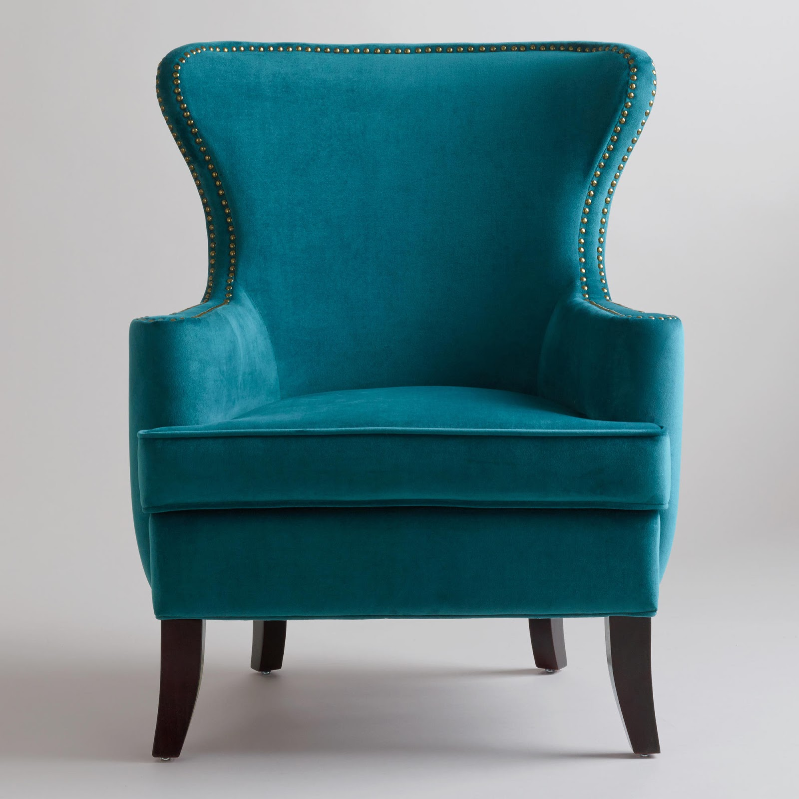 Teal Wingback Chair Leather Pub Retro Ranch Reno Things I Need