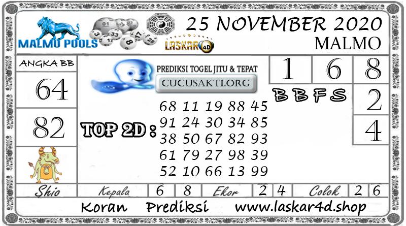 Prediksi Togel MALMO LASKAR4D 25 NOVEMBER 2020