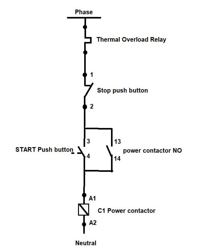 dol starter wiring diagram with timer