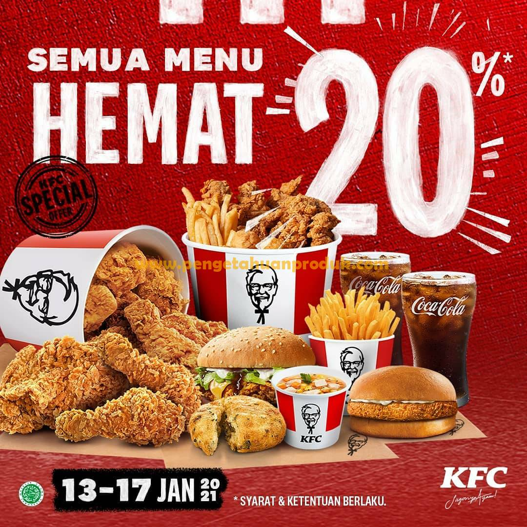 Promo KFC Minggu ini – DISKON 20% ALL ITEMS