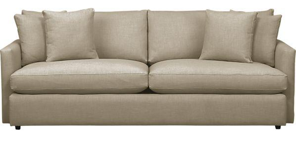Crate And Barrel Verano Sofa Gray Leather In Living Room Fabulously Vintage Update A Second Couch Lounge