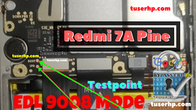 EDL 9008 Mode Redmi 7A Test Point