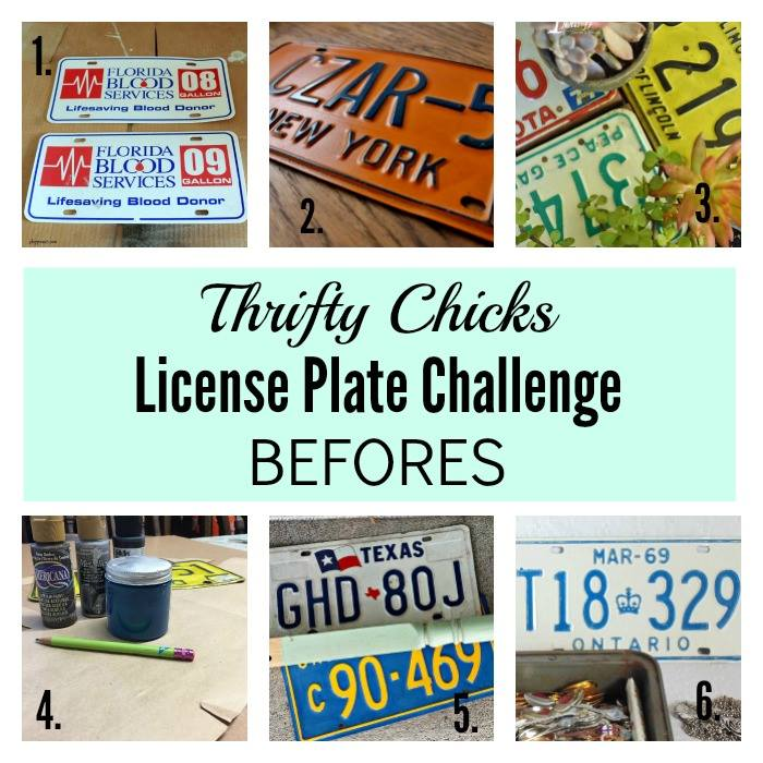 License Plate Thrifty Chicks Challenge Before Photos