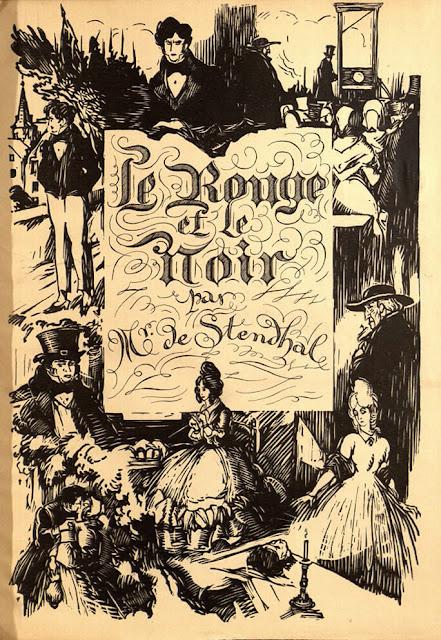 Εξώφυλλο του 19ου αιώνα για το Κόκκινο και το Μαύρο του Σταντάλ / Le Rouge et le Noir