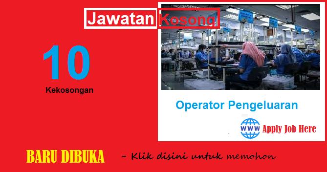 jawatan kosong swasta, operator pengeluaran