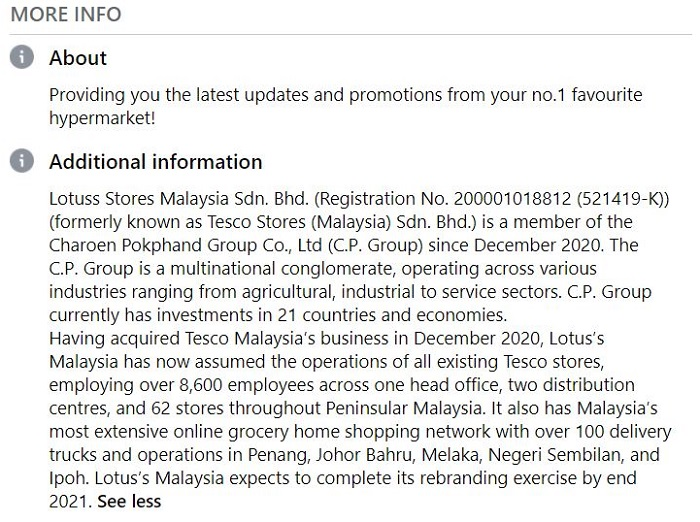Why Tesco Malaysia New Name Change Lotuss