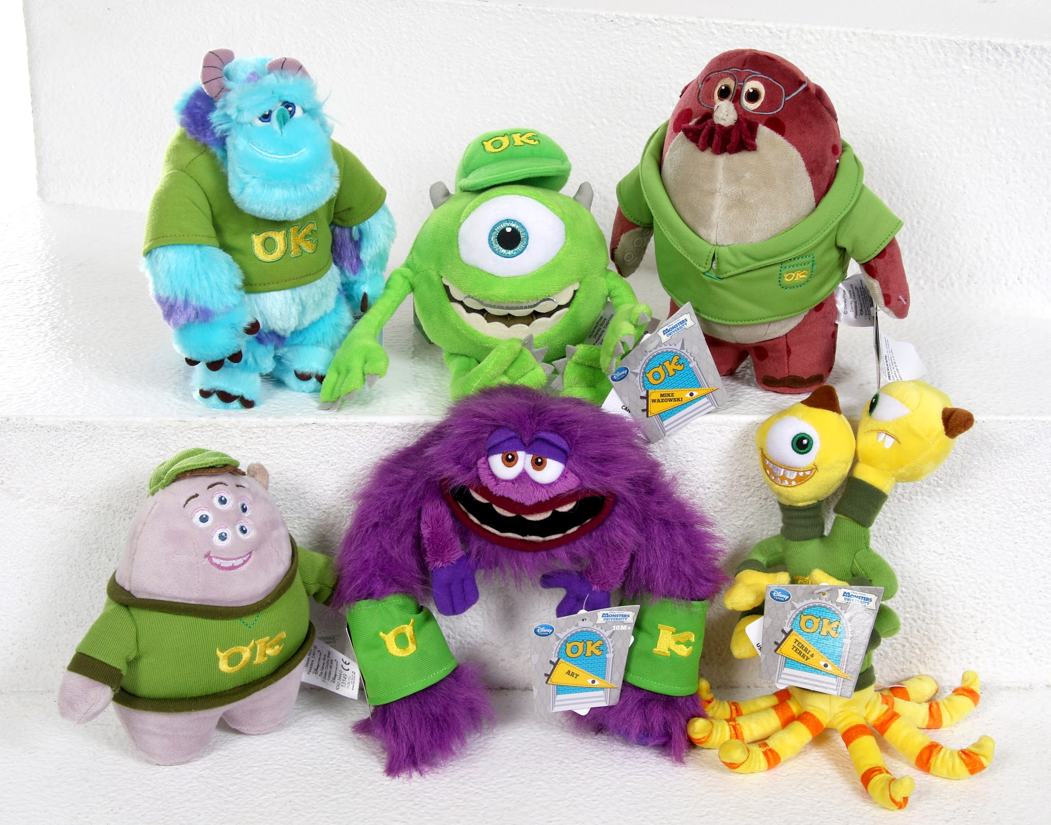 "Monsters University Disney Store ""OK"" Mini Bean Bag Plush"
