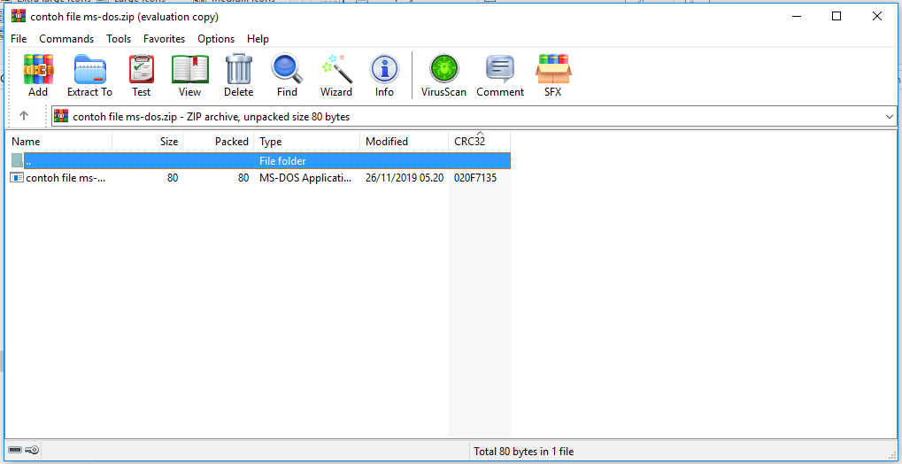 Membuka File Zip dengan Winrar
