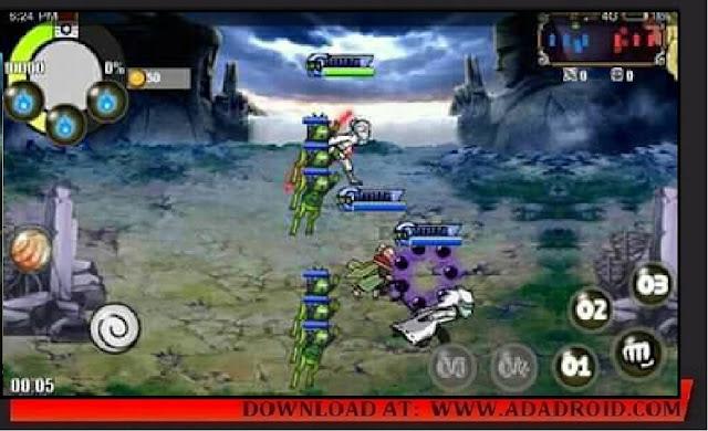 Download Game terbaru Naruto Senki berjudul 15 Strongest Kage VS Otsutsuki