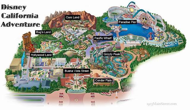 Mapa do Disney California Adventure