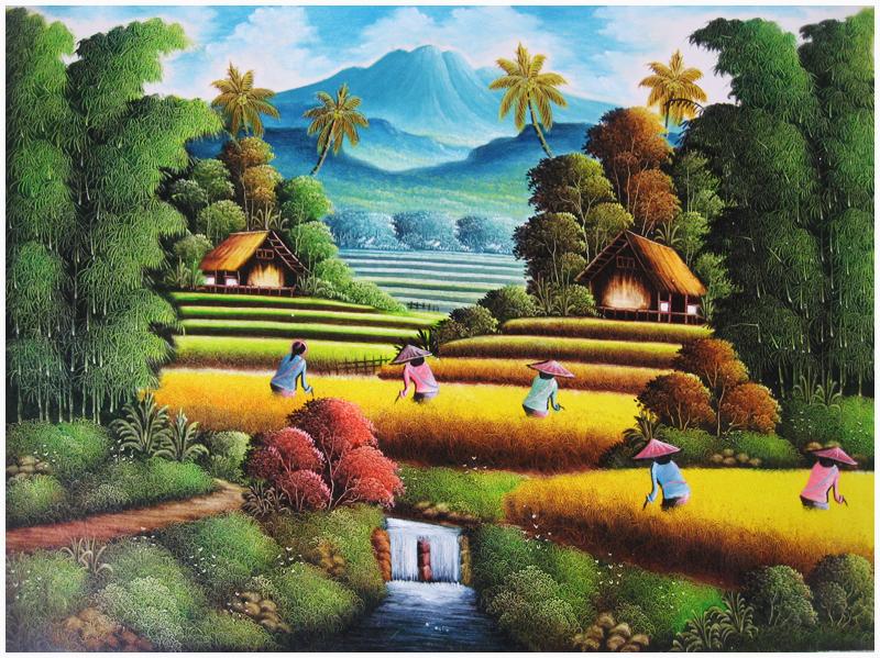 gambar pemandangan kampung - photo #15